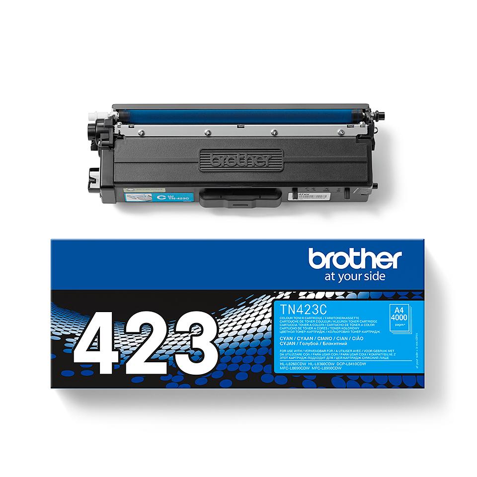 Brother TN423C: оригинальный голубой тонер-картридж. 2