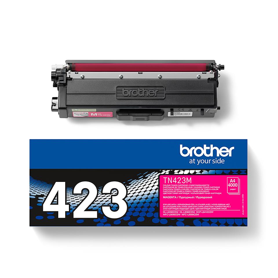 Brother TN423M: оригинальный красный тонер-картридж. 2