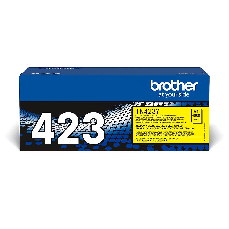 Brother TN423Y: оригинальный желтый тонер-картридж.