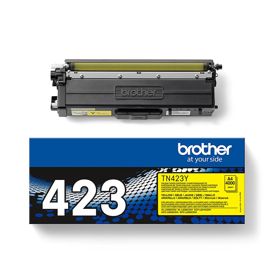 Brother TN423Y: оригинальный желтый тонер-картридж. 2