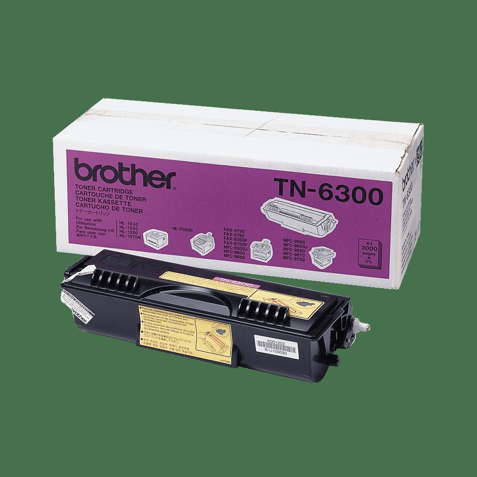 Brother TN6300: оригинальный черный тонер-картридж ультравысокой емкости для печатающего устройства.