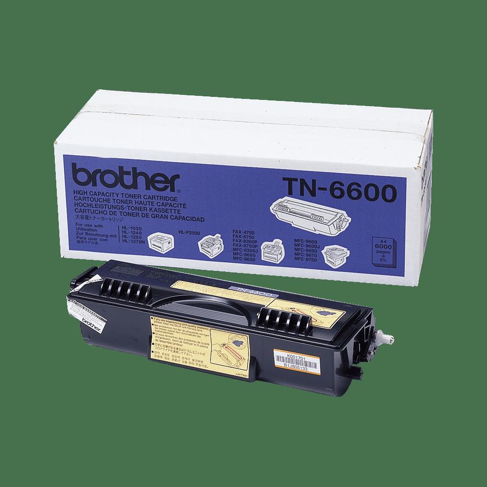 Brother TN6600 : оригинальный черный тонер-картридж ультравысокой емкости для печатающего устройства.