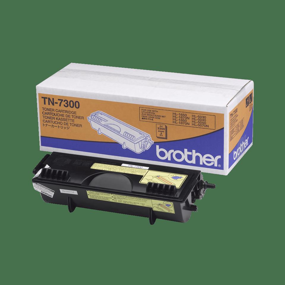 Brother TN7300: оригинальный черный тонер-картридж ультравысокой емкости для печатающего устройства.