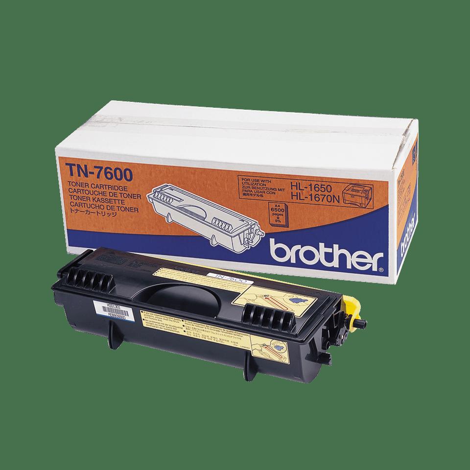 Brother TN7600: оригинальный черный тонер-картридж ультравысокой емкости для печатающего устройства.