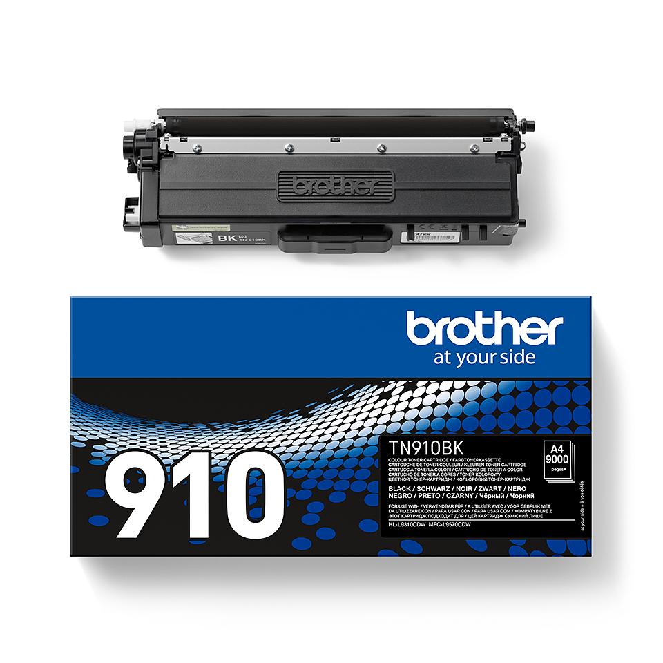 Brother TN910BK: оригинальный черный тонер-картридж. 2