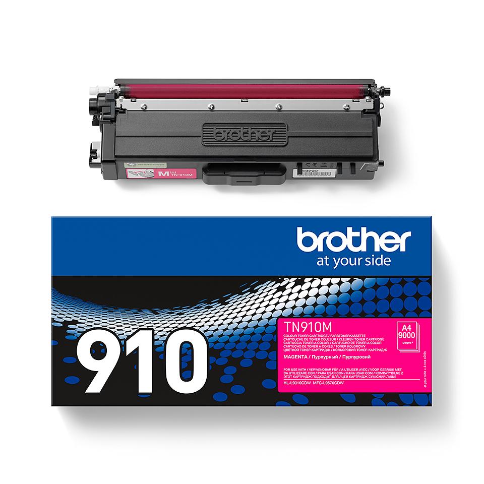 Brother TN910M: оригинальный красный тонер-картридж. 2