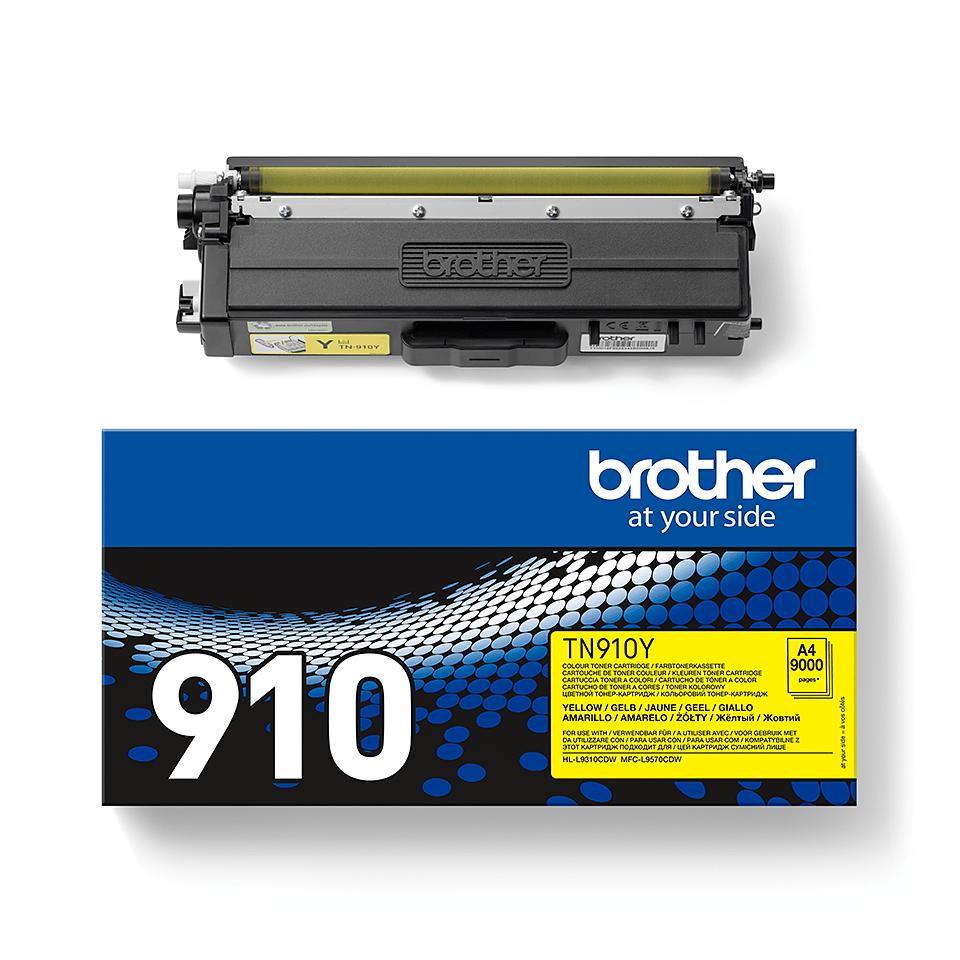 Brother TN910Y: оригинальный желтый тонер-картридж. 2