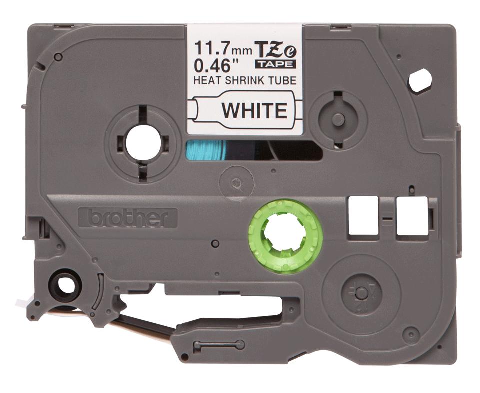 Brother HSe231: оригинальная кассета с термоусадочной лентой для печати наклеек черным на белом фоне, ширина: 11,7 мм.