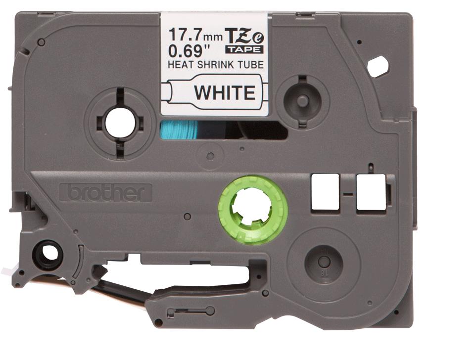 Brother HSe241: оригинальная кассета с термоусадочной лентой для печати наклеек  черным на белом фоне, ширина: 17,7 мм.