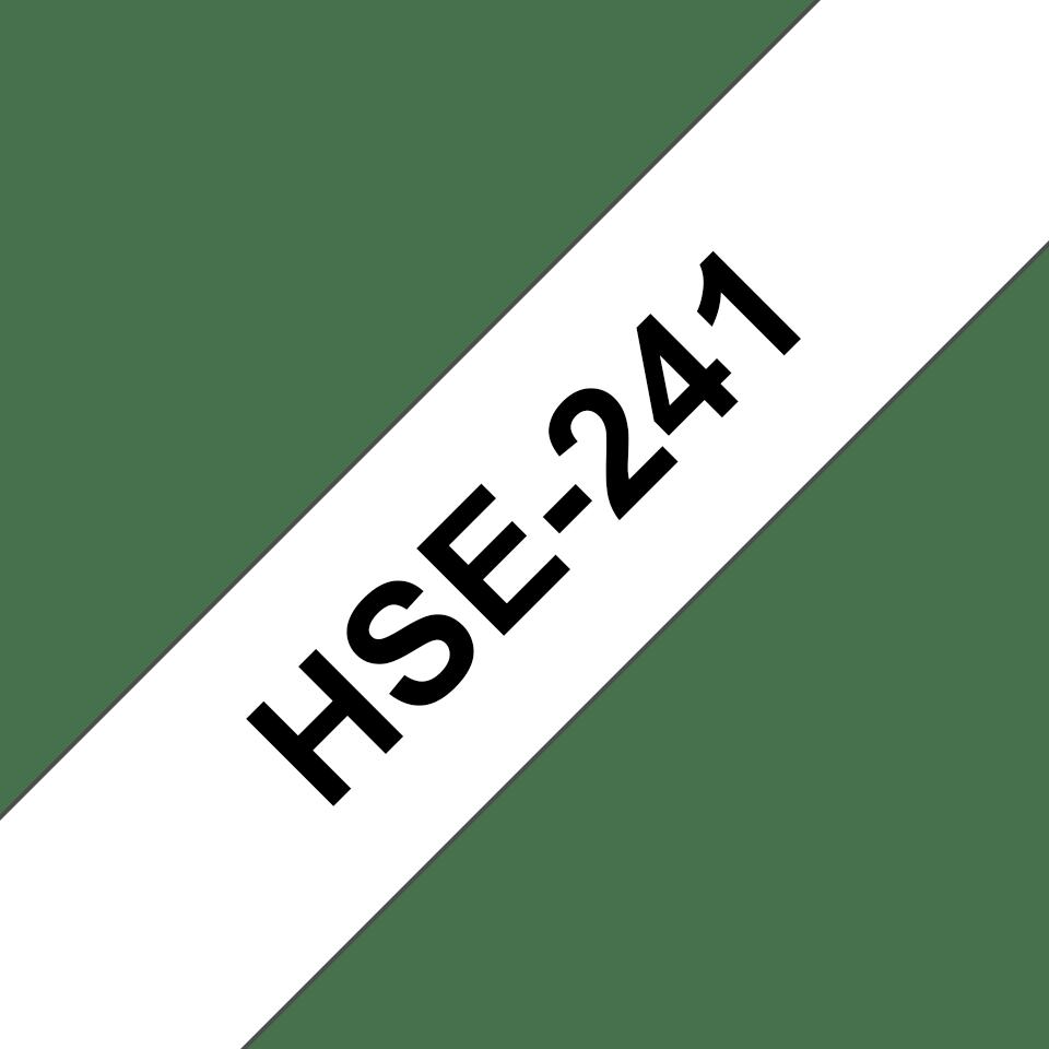 Brother HSe241: оригинальная кассета с термоусадочной лентой для печати наклеек  черным на белом фоне, ширина: 17,7 мм. 3