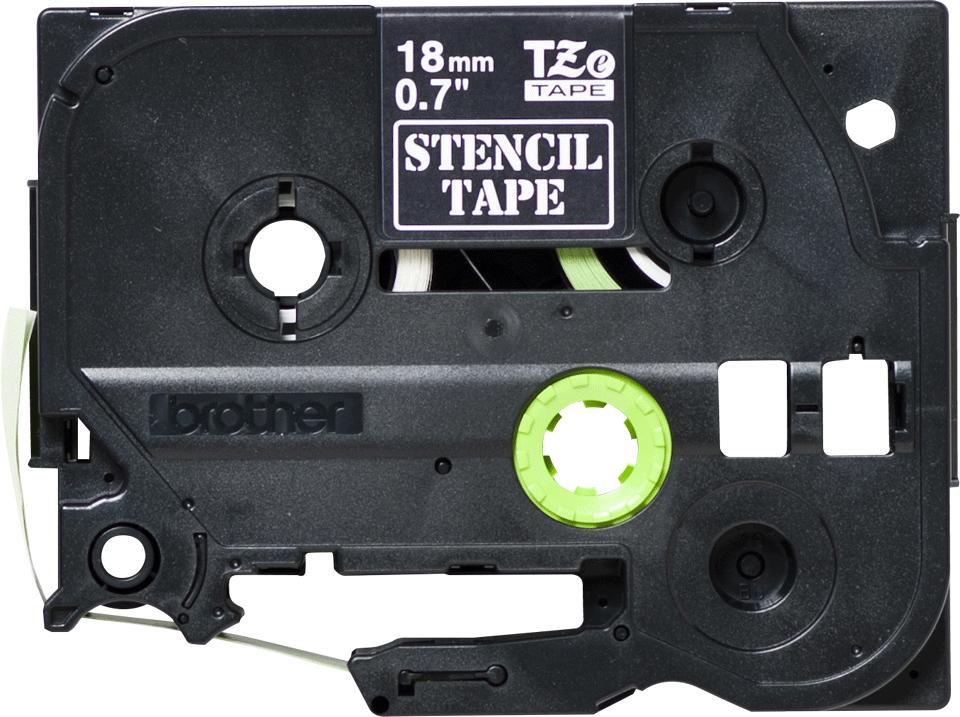 Brother STe141: оригинальная кассета с трафаретной лентой, ширина: 18 мм.