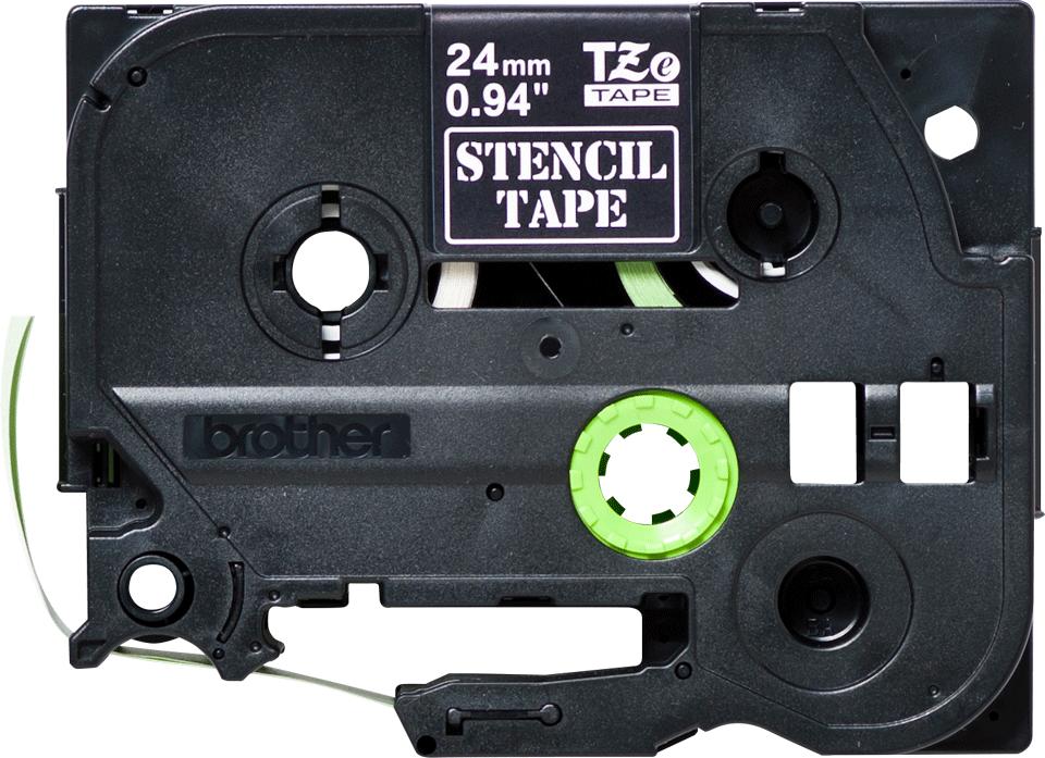 Brother STe151: оригинальная черная трафаретная лента, ширина: 24 мм. 2