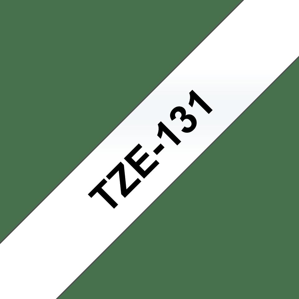 Brother TZe131: оригинальная кассета с лентой для печати наклеек черным на прозрачном фоне, ширина: 12 мм. 3