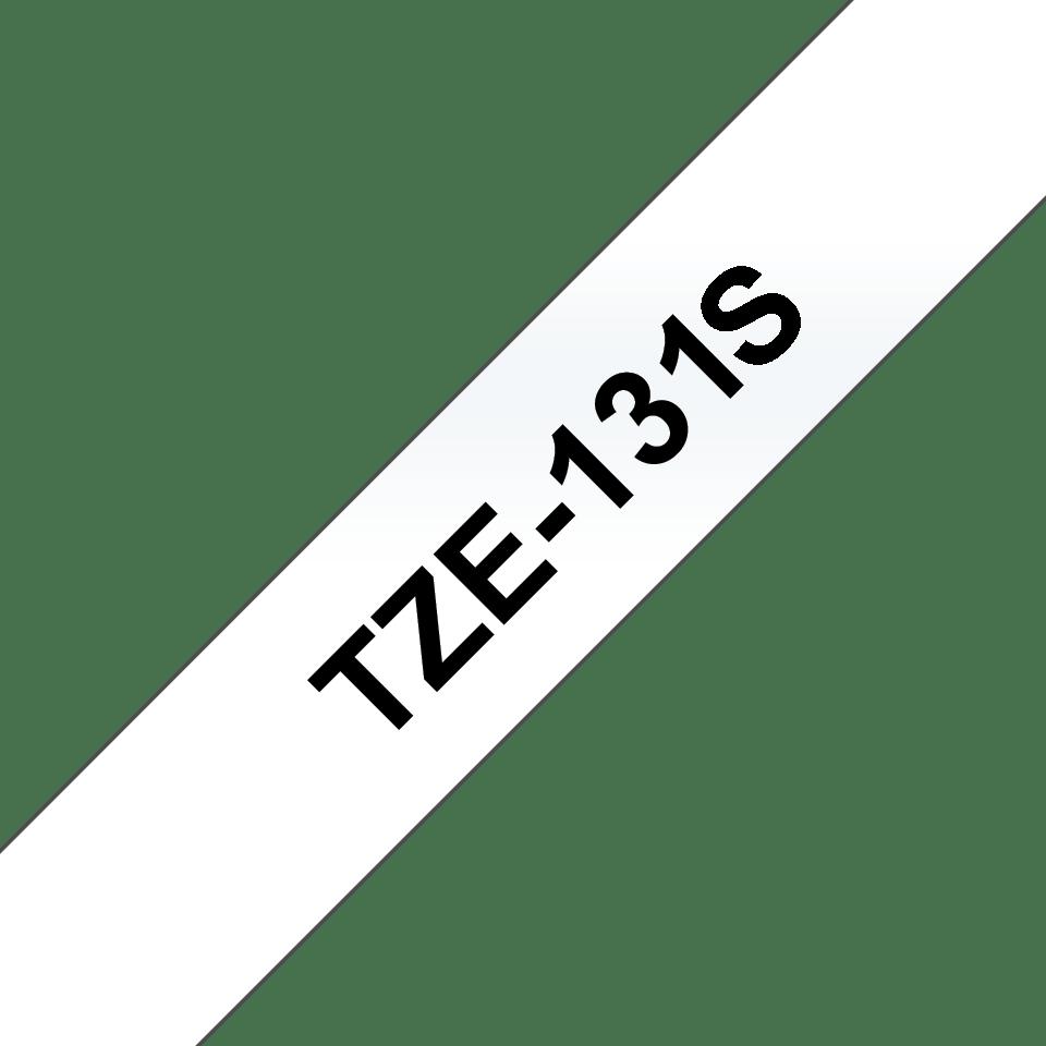 Brother TZe131S: оригинальная кассета с лентой для печати наклеек черным на прозрачном фоне, 12 мм. 3
