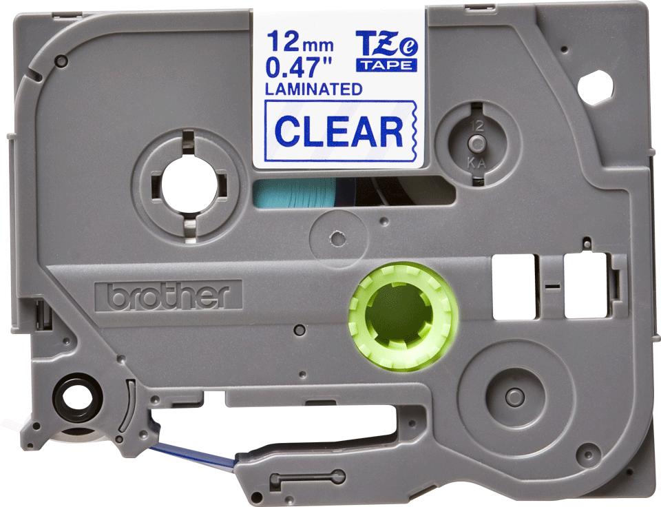 Brother TZe133: оригинальная кассета с лентой для печати наклеек синим на прозрачном фоне, ширина: 12 мм.