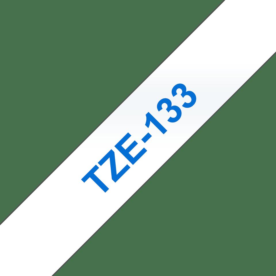 Brother TZe133: оригинальная кассета с лентой для печати наклеек синим на прозрачном фоне, ширина: 12 мм. 3