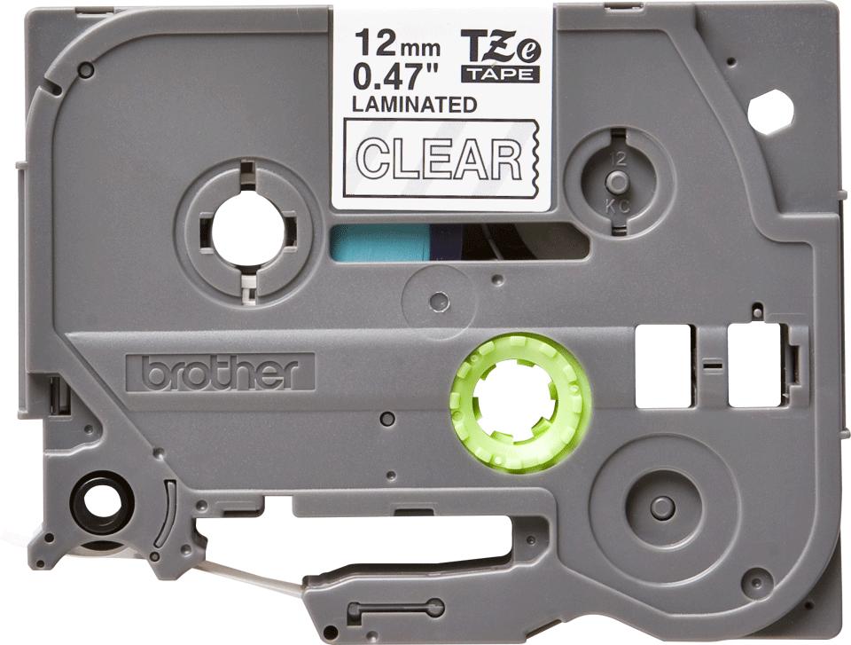 Brother TZe135: оригинальная кассета с лентой для печати наклеек белым на прозрачном фоне, ширина: 12 мм.