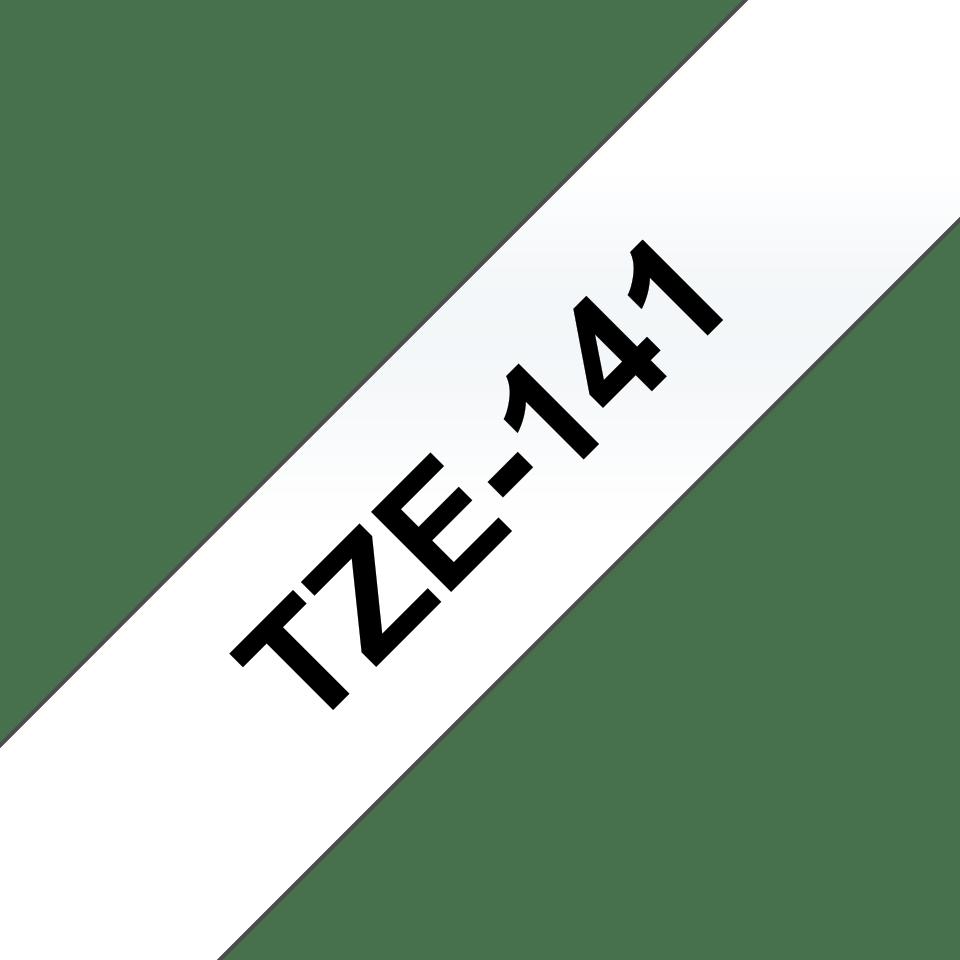 Brother TZe141: оригинальная кассета с лентой для печати наклеек черным на прозрачном фоне, ширина 18 мм. 3
