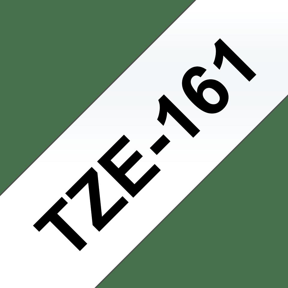 Brother TZe161: оригинальная кассета с лентой для печати наклеек черным на прозрачном фоне, ширина: 36 мм. 3