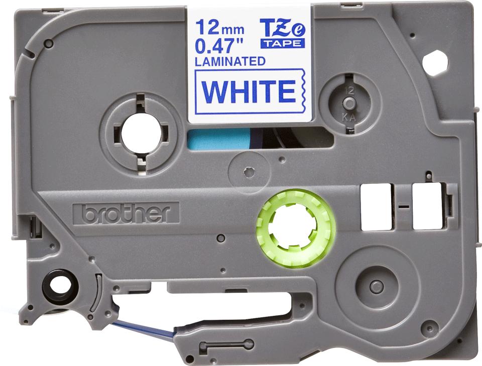 Brother TZe233: оригинальная лента для печати наклеек синим на белом фоне, в одном экземпляре, ширина 12 мм.