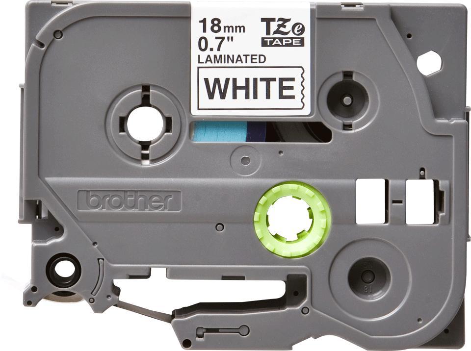 Brother TZe241: оригинальная кассета с лентой для печати наклеек черным на белом фоне, ширина: 18 мм.