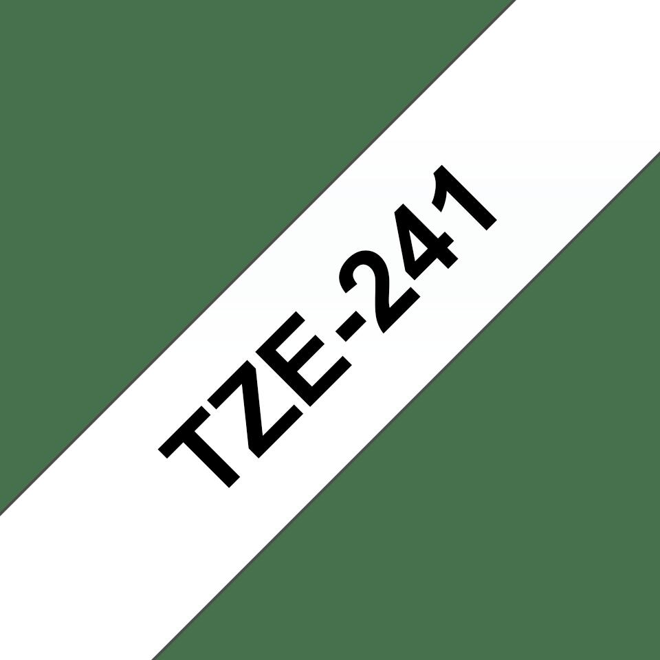 Brother TZe241: оригинальная кассета с лентой для печати наклеек черным на белом фоне, ширина: 18 мм. 3