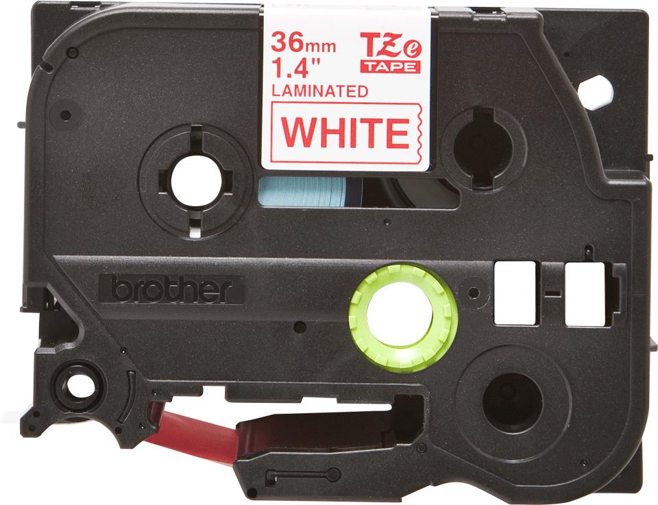 Brother TZe262: оригинальная кассета с лентой для печати наклеек красным на белом фоне, ширина: 36 мм.
