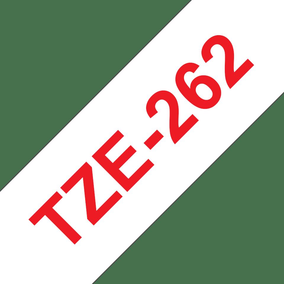 Brother TZe262: оригинальная кассета с лентой для печати наклеек красным на белом фоне, ширина: 36 мм. 3
