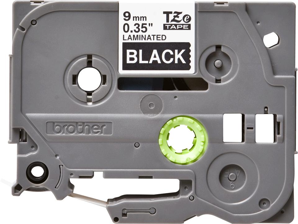 Brother TZe325: оригинальная кассета с лентой для печати наклеек белым на черном фоне, ширина 9 мм.