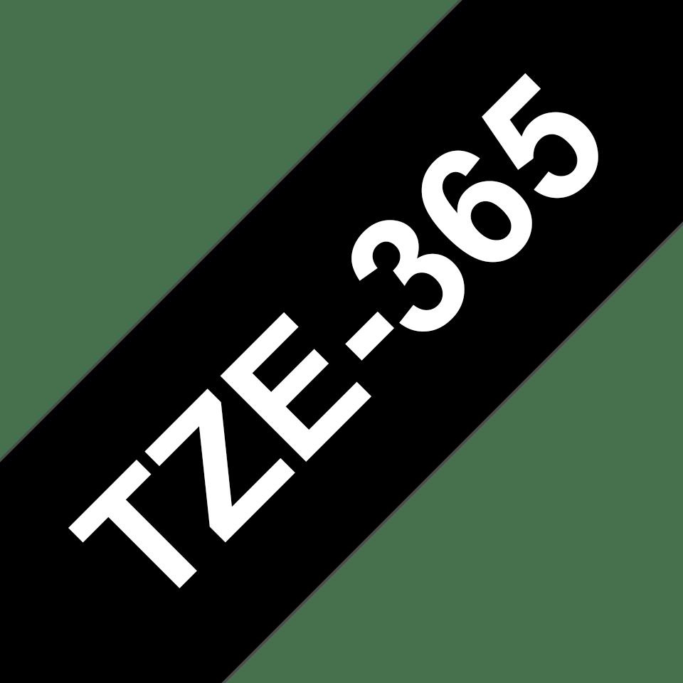 Brother TZe365: оригинальная кассета с лентой для печати наклеек белым на черном фоне, ширина: 36 мм. 3