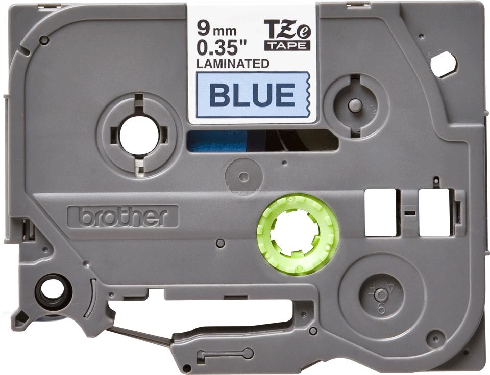 Brother TZe521: оригинальная кассета с лентой для печати наклеек черным на синем фоне, 9 мм.