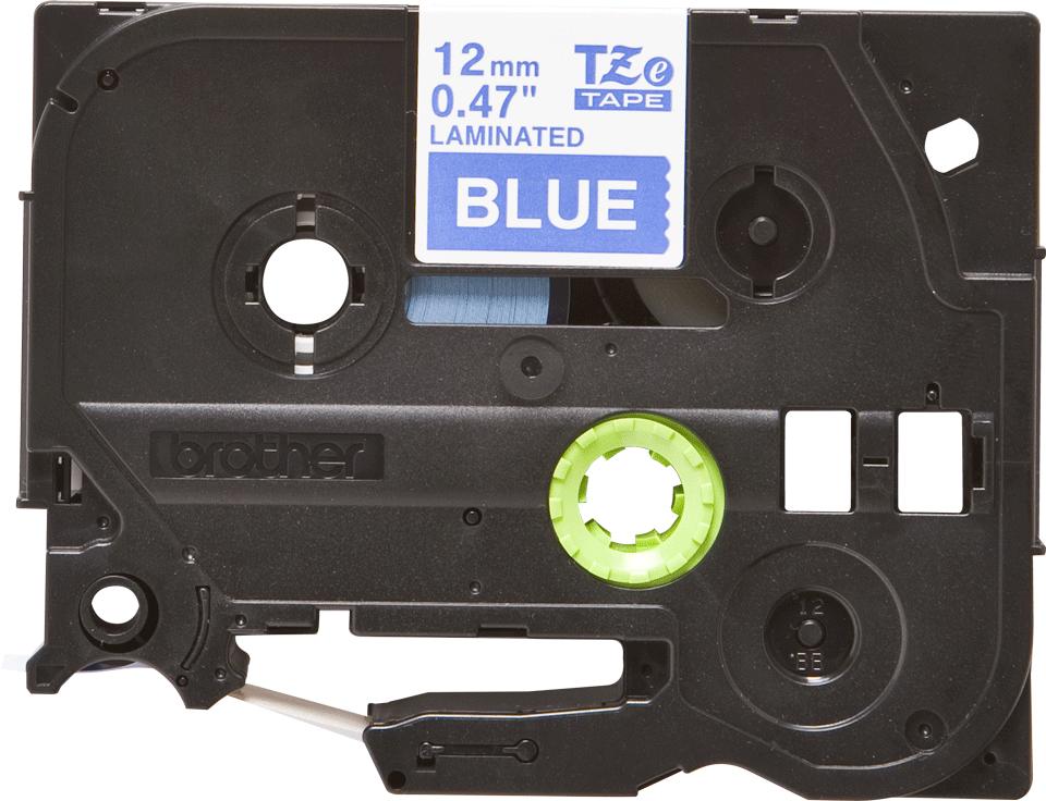 Brother TZe535: оригинальная кассета с лентой для печати наклеек белым на синем фоне, ширина: 12 мм.