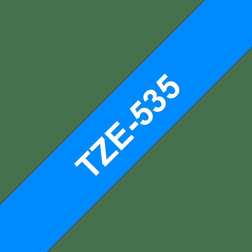 Brother TZe535: оригинальная кассета с лентой для печати наклеек белым на синем фоне, ширина: 12 мм. 3