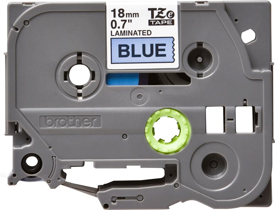 Brother TZe541: оригинальная кассета с лентой для печати наклеек черным на синем фоне, 18 мм.