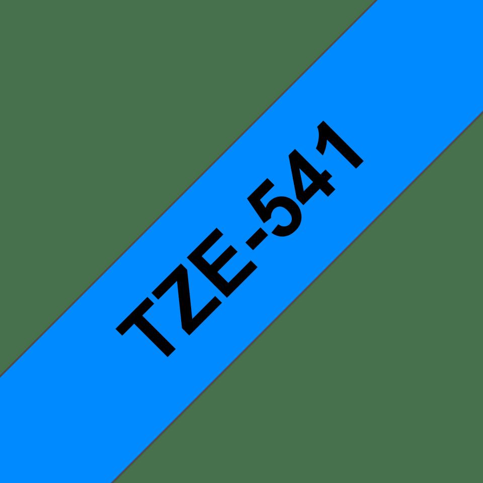 Brother TZe541: оригинальная кассета с лентой для печати наклеек черным на синем фоне, 18 мм. 3