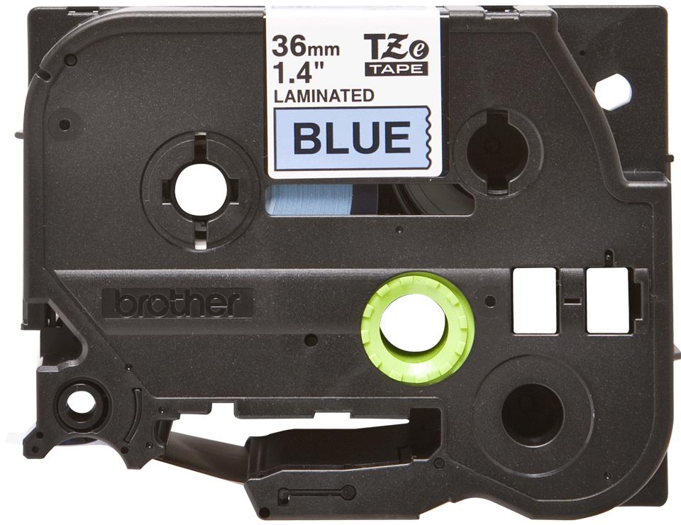 Brother TZe561: оригинальная кассета с лентой для печати наклеек черным на синем фоне, ширина: 36 мм.