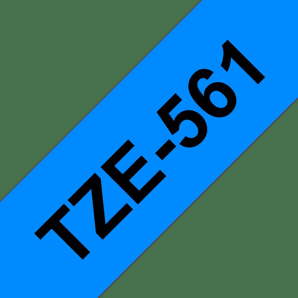 Brother TZe561: оригинальная кассета с лентой для печати наклеек черным на синем фоне, ширина: 36 мм. 3