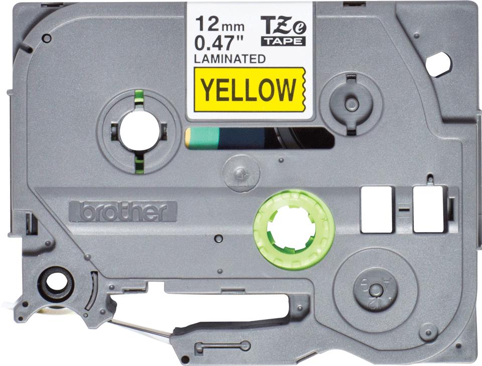 Brother TZe631S: оригинальная кассета с лентой для печати наклеек черным на желтом фоне, ширина: 12 мм.