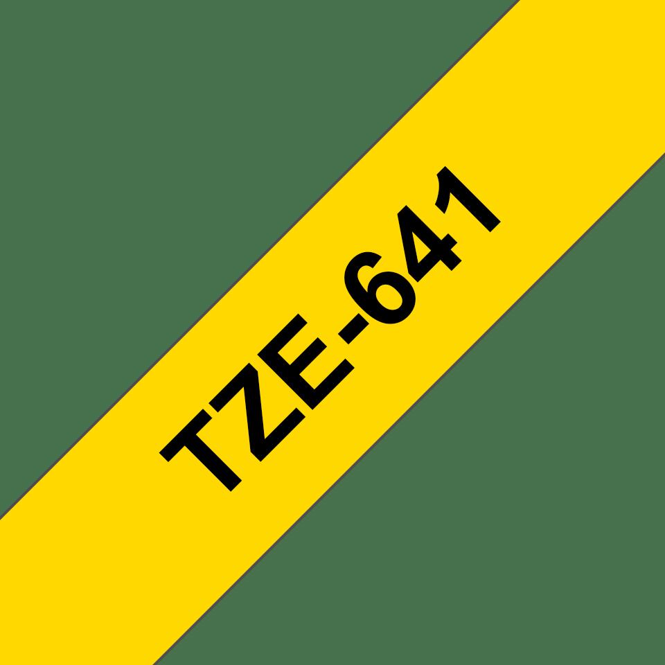 Brother TZe641: оригинальная кассета с лентой для печати наклеек черным на желтом фоне, ширина 18 мм. 3