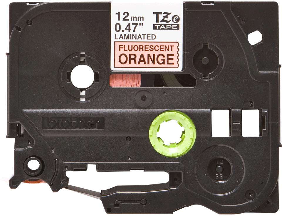 Brother TZeB31: оригинальная лента для печати наклеек, флуоресцентный оранжевый цвет, ширина: 12 мм.