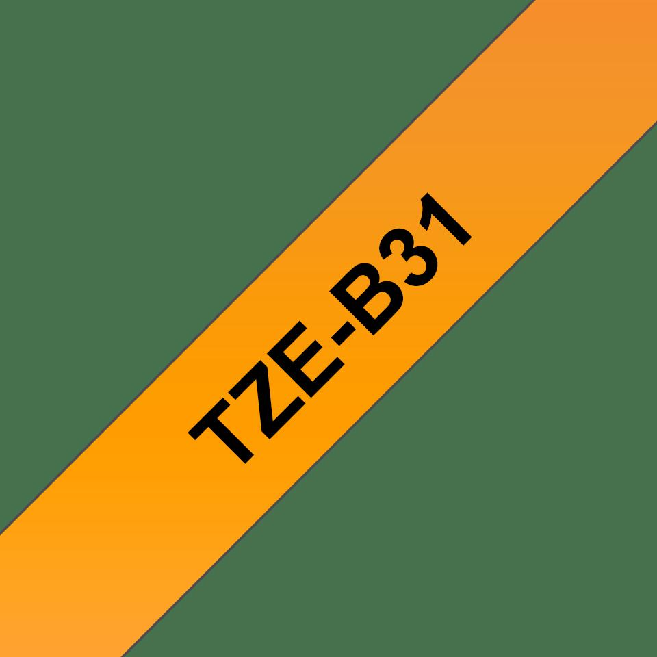 Brother TZeB31: оригинальная лента для печати наклеек, флуоресцентный оранжевый цвет, ширина: 12 мм. 3