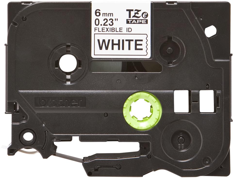 Brother TZeFX211: оригинальная кассета с лентой для печати наклеек черным на белом фоне с универсальным ИД, ширина: 6 мм.