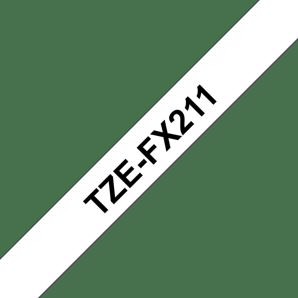 Brother TZeFX211: оригинальная кассета с лентой для печати наклеек черным на белом фоне с универсальным ИД, ширина: 6 мм. 3