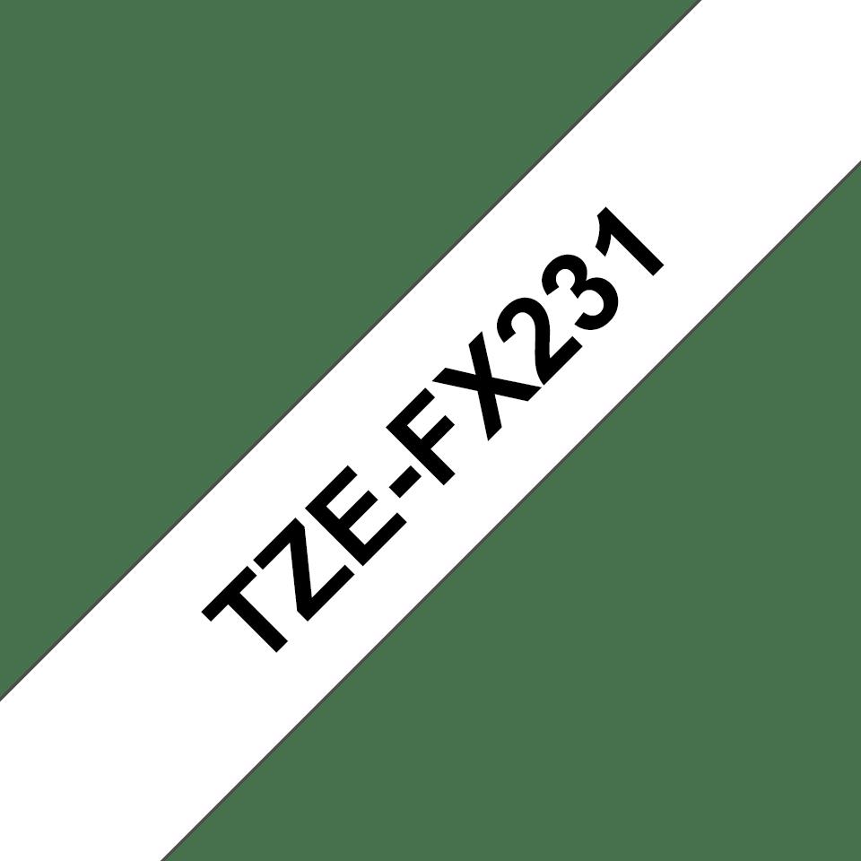 Brother TZeFX231: оригинальная лента для печати наклеек на принтере PTouch, черным на белом фоне, ширина: 12 мм. 3