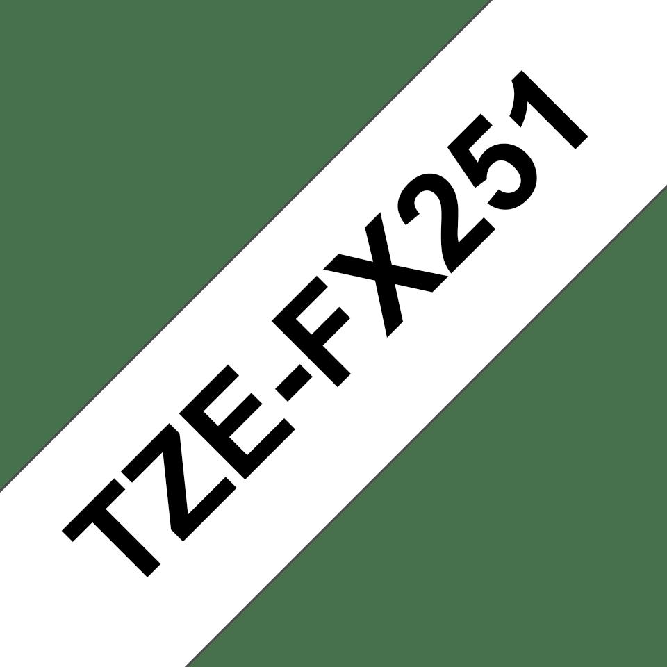 Brother TZeFX251: оригинальная кассета с лентой для печати наклеек черным на белом фоне с универсальным ИД, ширина: 24 мм. 3
