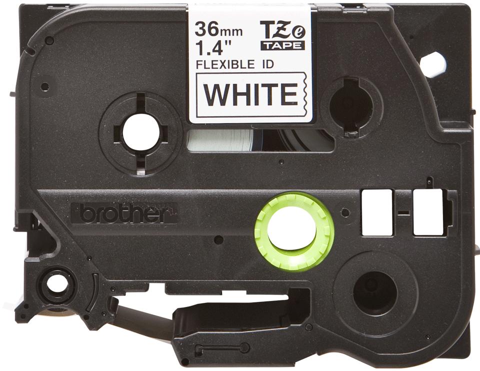 Brother TZeFX261: оригинальная кассета с лентой для печати наклеек черным на белом фоне с универсальным ИД, ширина: 36 мм.