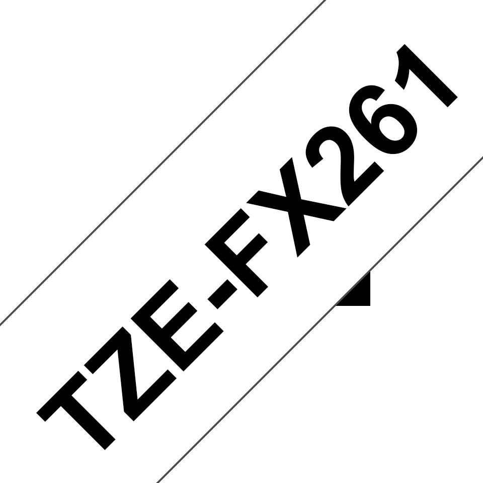 Brother TZeFX261: оригинальная кассета с лентой для печати наклеек черным на белом фоне с универсальным ИД, ширина: 36 мм. 3
