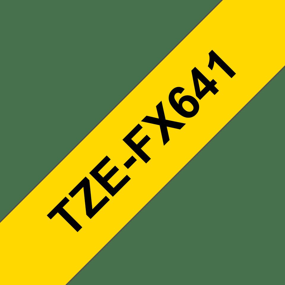 Brother TZeFX641: оригинальная кассета с лентой для печати наклеек черным на желтом фоне с универсальным ИД, ширина: 18 мм. 3