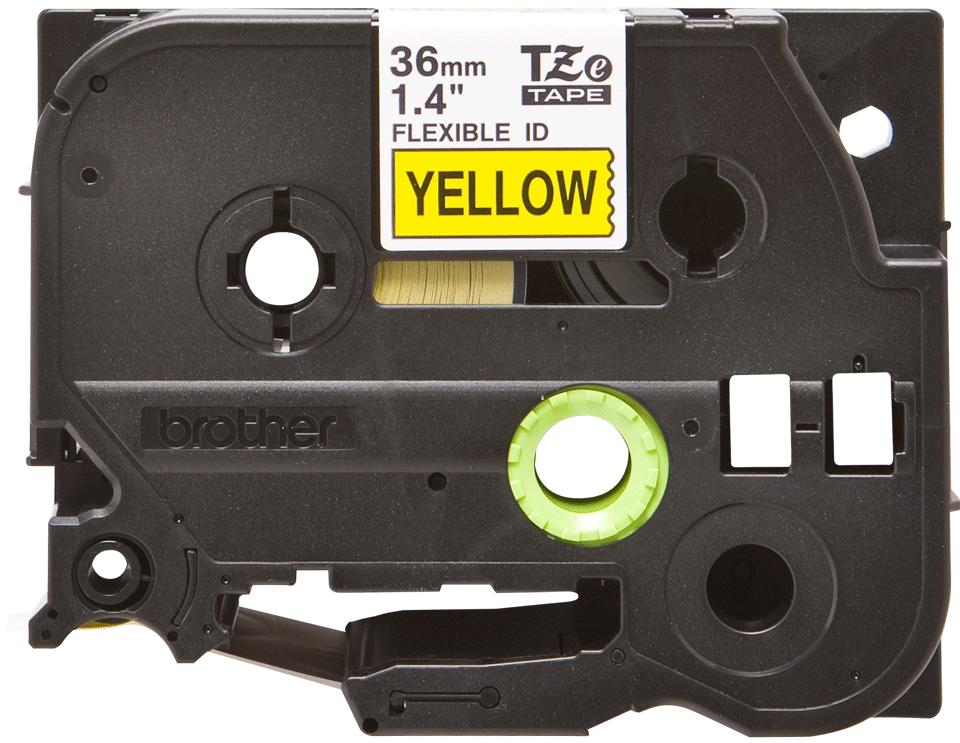 Brother TZeFX661: оригинальная кассета с лентой для печати наклеек черным на желтом фоне с универсальным ИД, ширина: 36 мм.