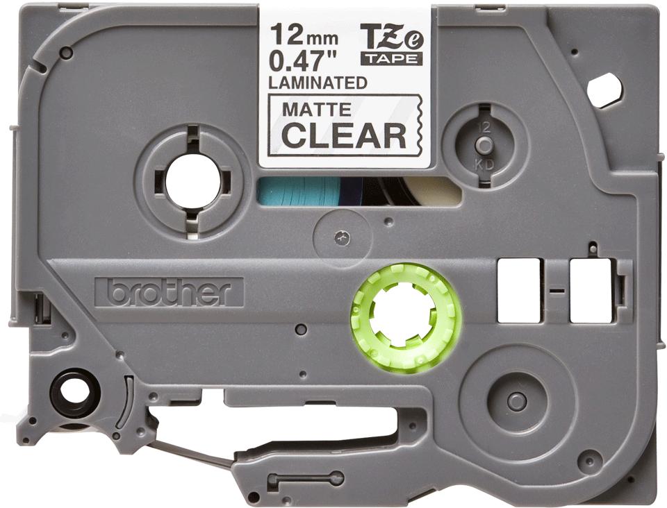 Brother TZeM31: оригинальная кассета с лентой для печати ламинированных наклеек черным на прозрачном матовом фоне, ширина: 12 мм.